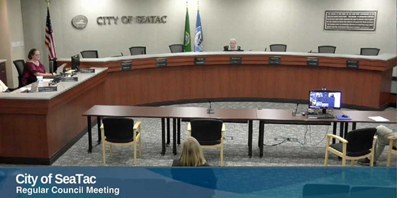 Some business accomplished in a virtual SeaTac City Council meeting