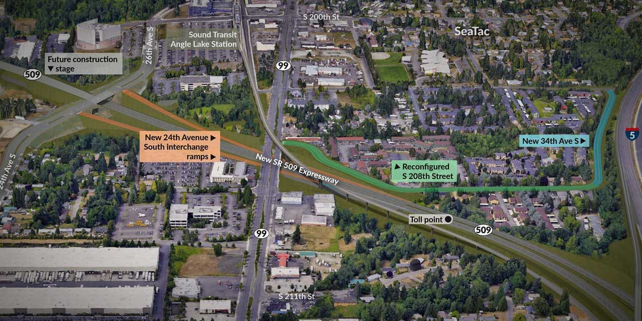 SR 509 Completion Project reaches major milestone with $264 million 'apparent best value' proposal